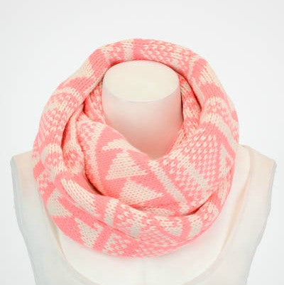 Neon Fair Isle Infinity Scarf | Haute Pink Boutique