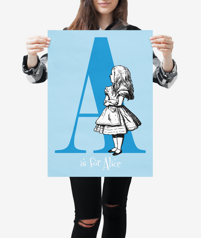 "Alice in Wonderland Alphabet - Letter ""A"""