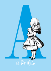 "Alice's Alphabet Greeting Card - the letter ""A"""