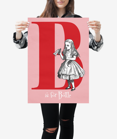 "Alice in Wonderland Alphabet - Letter ""B"""