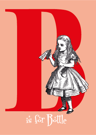 "Alice's Alphabet Greeting Card - the letter ""B"""