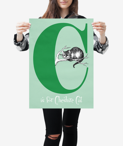 "Alice in Wonderland Alphabet - Letter ""C"""