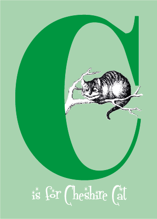 "Alice's Alphabet Greeting Card - the letter ""C"""