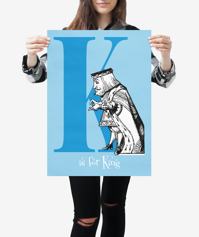 "Alice in Wonderland Alphabet - Letter ""K"""