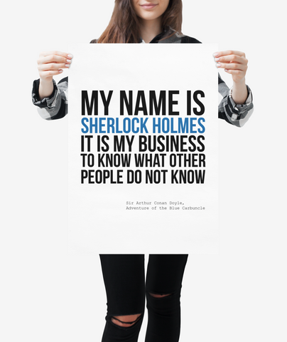 """Sherlock Holmes"" quote print"