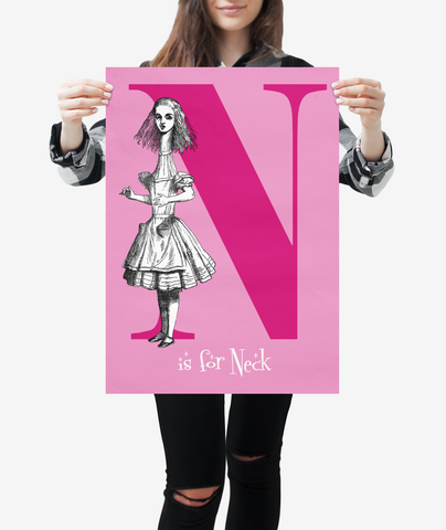 "Alice in Wonderland Alphabet - Letter ""N"""
