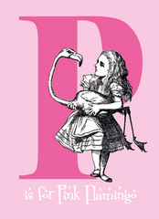 "Alice's Alphabet Greeting Card - the letter ""P"""