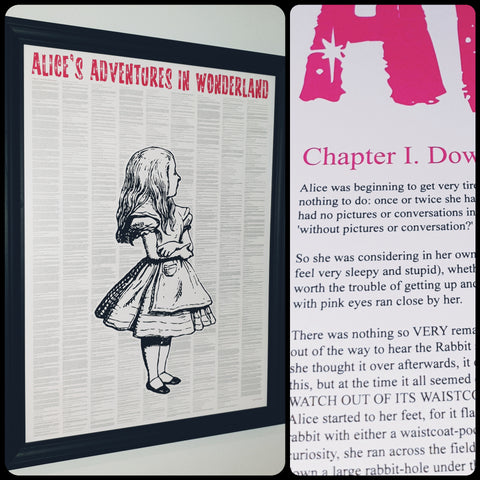 Alice's Adventures In Wonderland Traditional Alice Full Novel Text Print