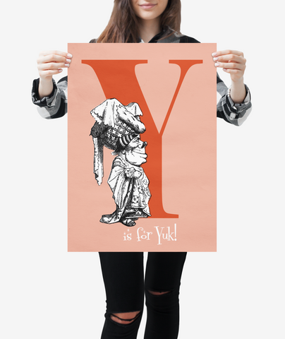 "Alice in Wonderland Alphabet - Letter ""Y"""