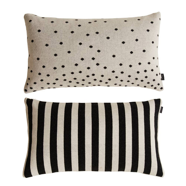 Luna Cushion - Black / White
