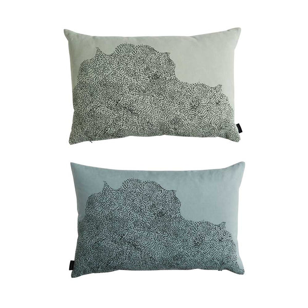 Dream Dot Cushion - Pale Blue / Pale Green