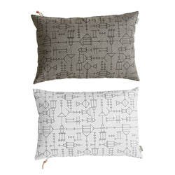 Cave Cushion - White / Grey