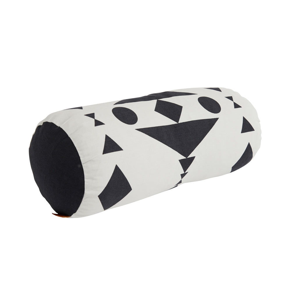 Cylinder Cushion - White / Black