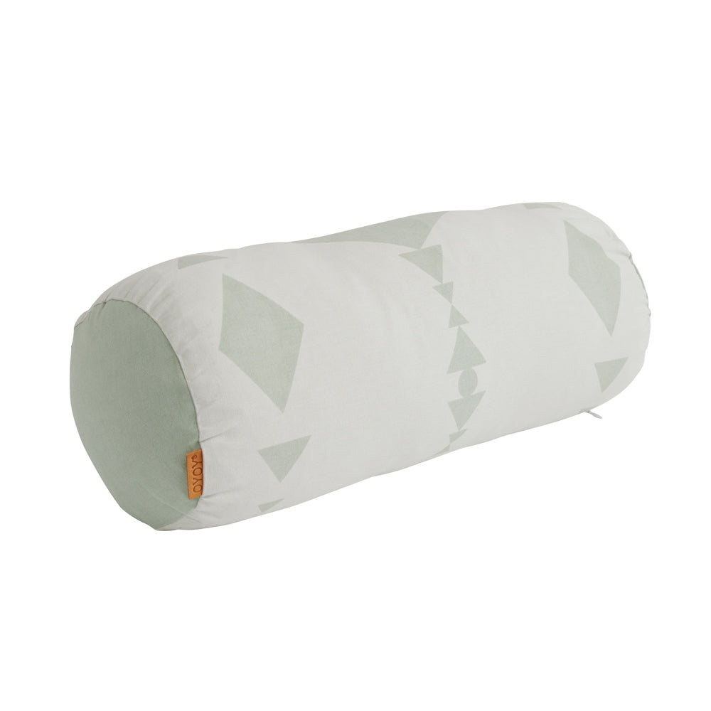 Cylinder Cushion - Minty / White
