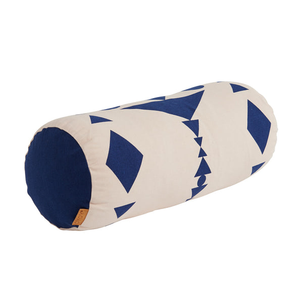 Cylinder Cushion - Dark Blue / Nude