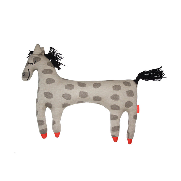 Horse Pippa Cushion - Beige / Brown