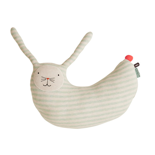 Rabbit Peter Cushion - Minty / White