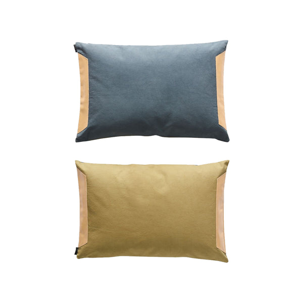Deco Cushion - Steel Blue / Olive