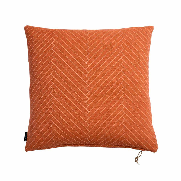 Fluffy Herringbone Pillow in Caramel