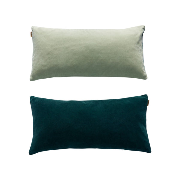 Lia Cushion - Dark Green / Pale Green