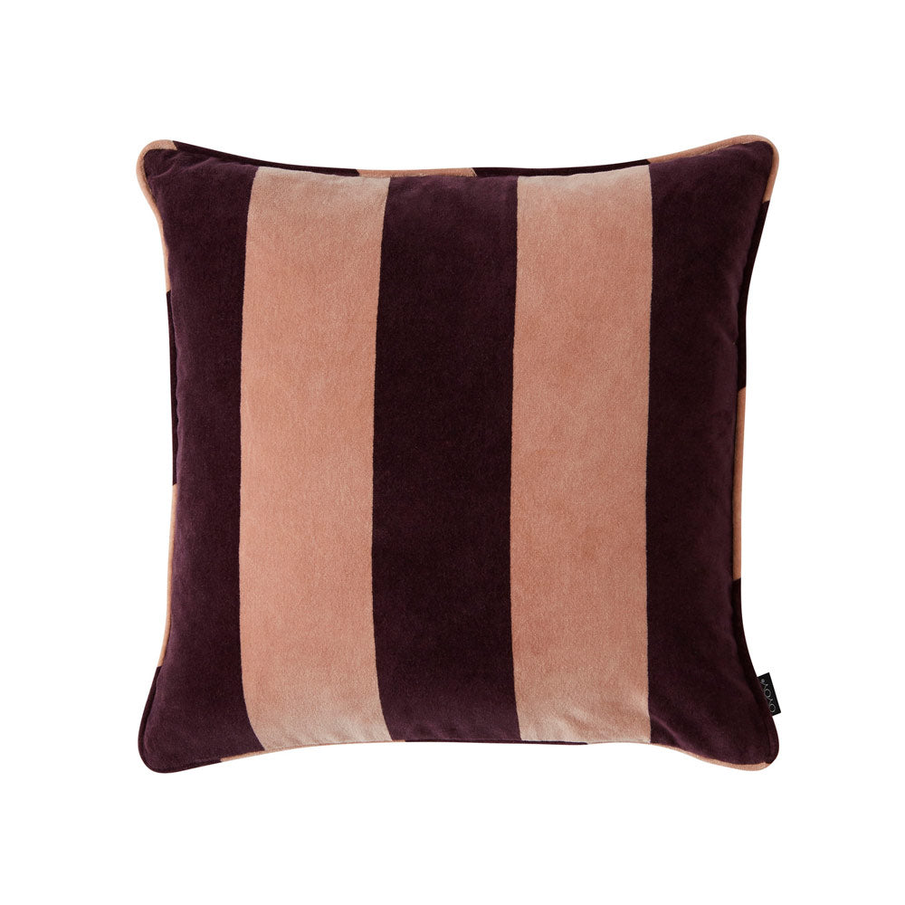 Confect Velvet Cushion - Aubergine / Rose