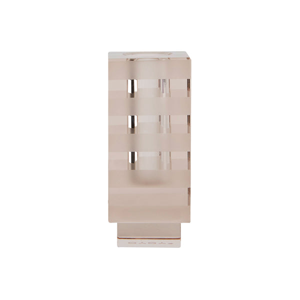 Graphic Candleholder - Light Brown