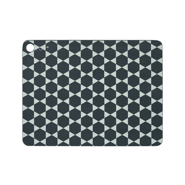 Placemat Hexagon - 2 Pcs/Pack - Dark Grey