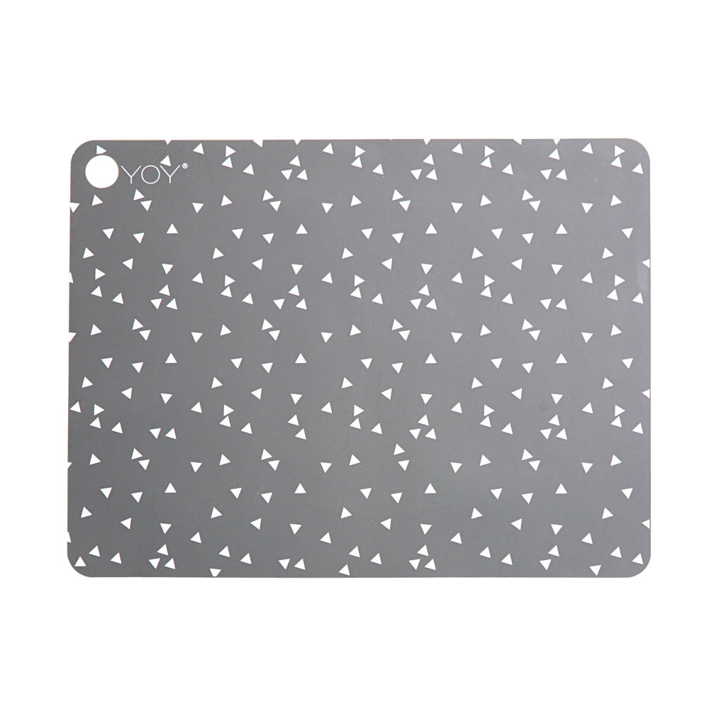Placemat Triangle - 2 Pcs/Pack - Light Grey