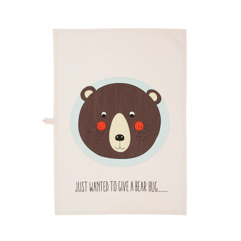 Tea Towel Bear - Powder