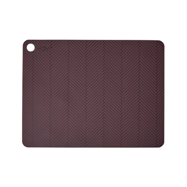 Placemat Herringbone - 2 Pcs/Pack - Bordeaux