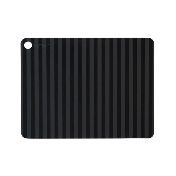 Placemat Stripe - 2 Pcs/Pack - Anthracite