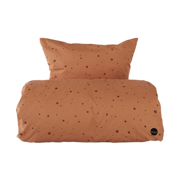 Dot Bedding - Baby - Caramel
