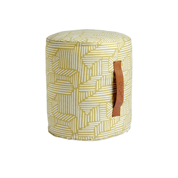 Mini Paddy Pouf - Yellow