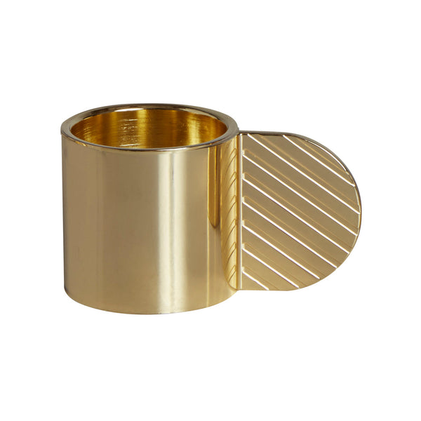 Art Candleholder - Circle - Brass