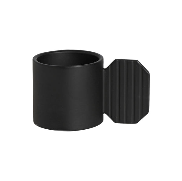 Art Candleholder - Hexagon - Black