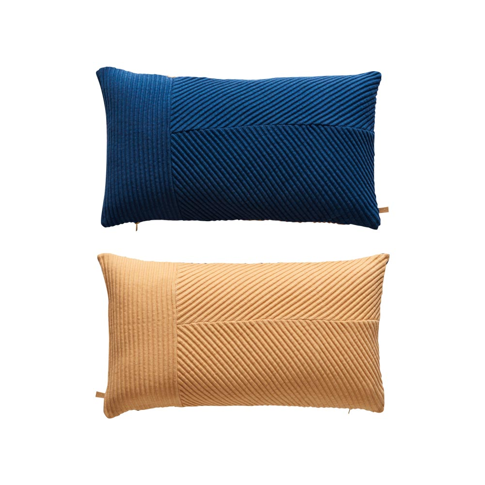 Ada Pillow - Blue / Camel