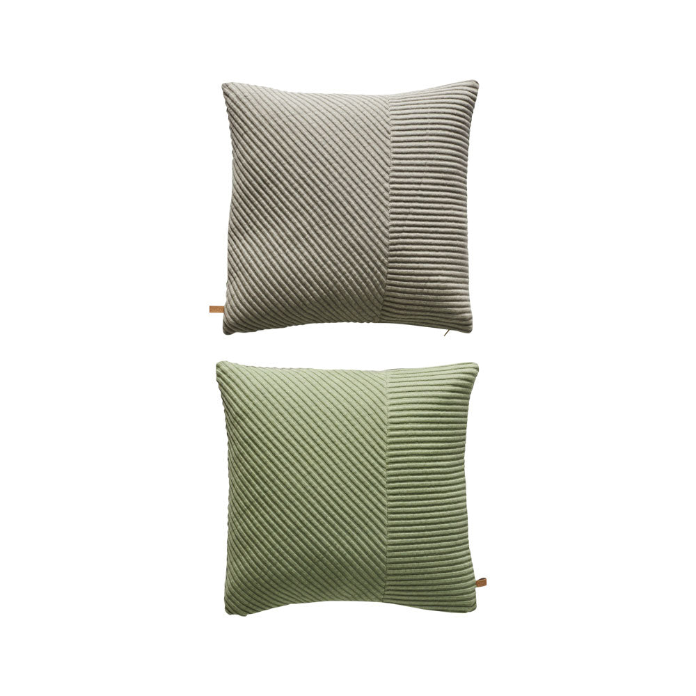 Ada Pillow - Light Grey / Pale Green