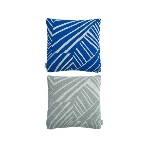 Smilla Cushion - Light Grey / Blue
