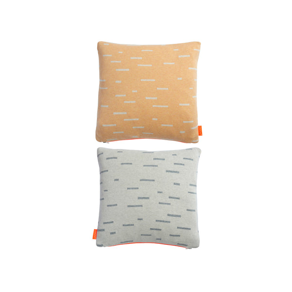 Smilla Cushion - Peach / Light Grey