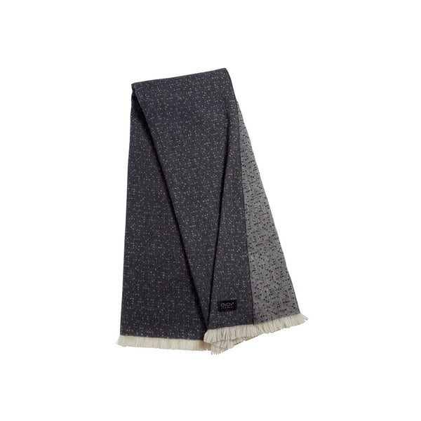 Tenji Plaid Throw - Off White / Anthracite