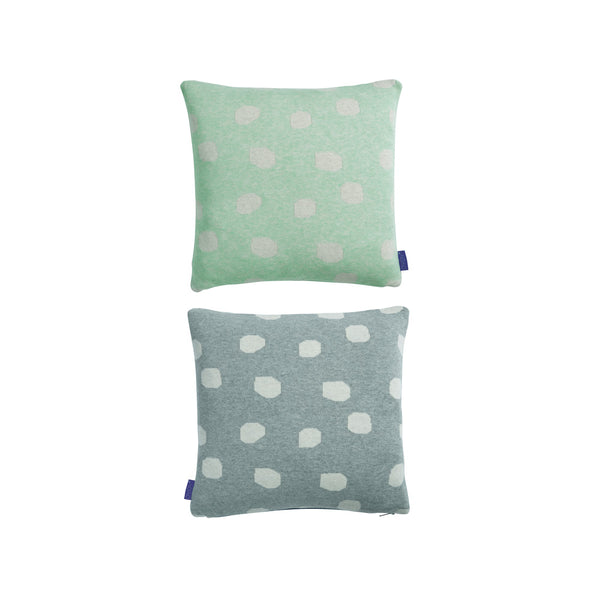 Smilla Cushion - Minty / Grey