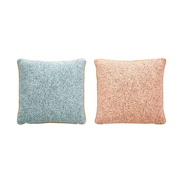 Taro Cushion - Pale Blue / Peach