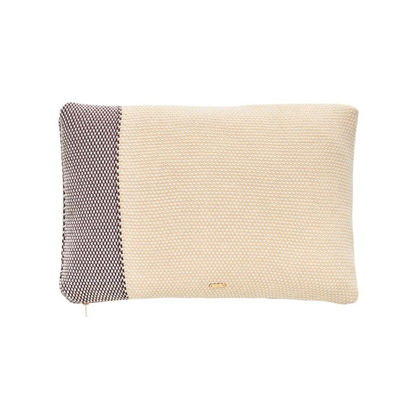 Koke Cushion - Yellow / Aubergine