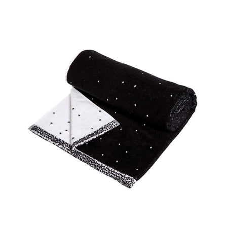 Small Dotty Towel in Black & White