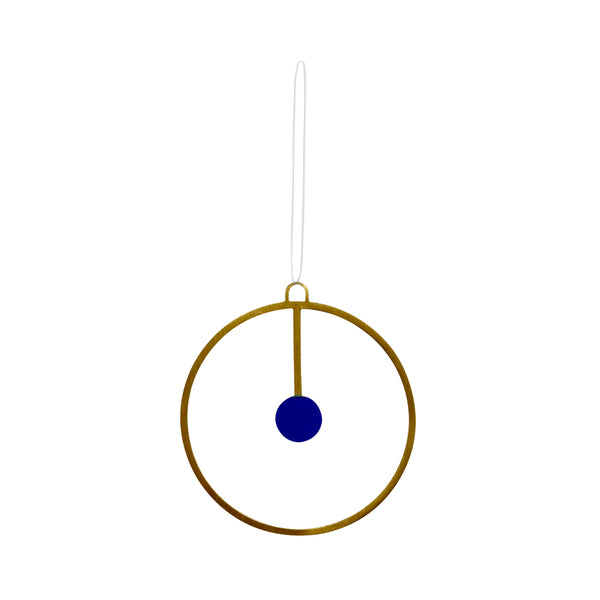 Joulu Ornament - Brass / Blue