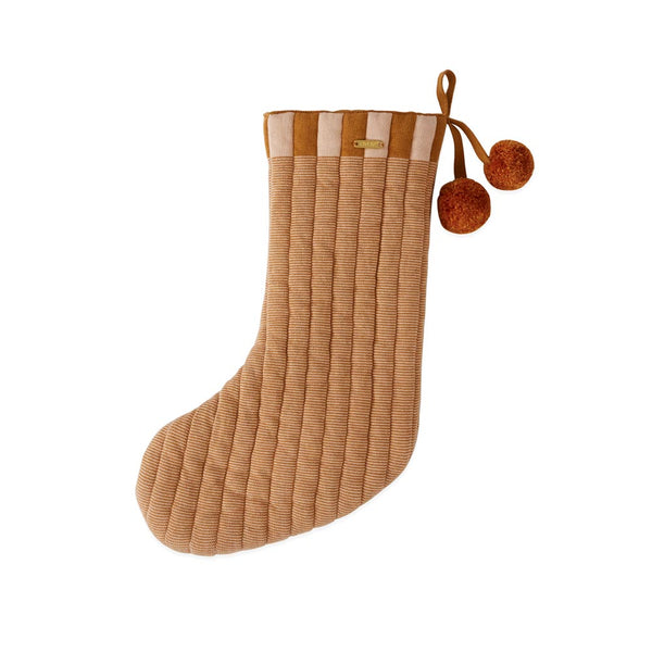 Laja Christmas Stocking - Caramel / Rose