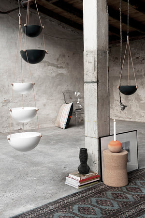 Pif Paf Puf Hanging Storage - 3 Bowls - Dark Grey