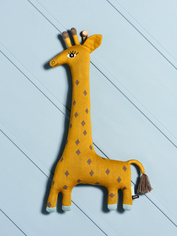 Noah Giraffe Cushion - Curry
