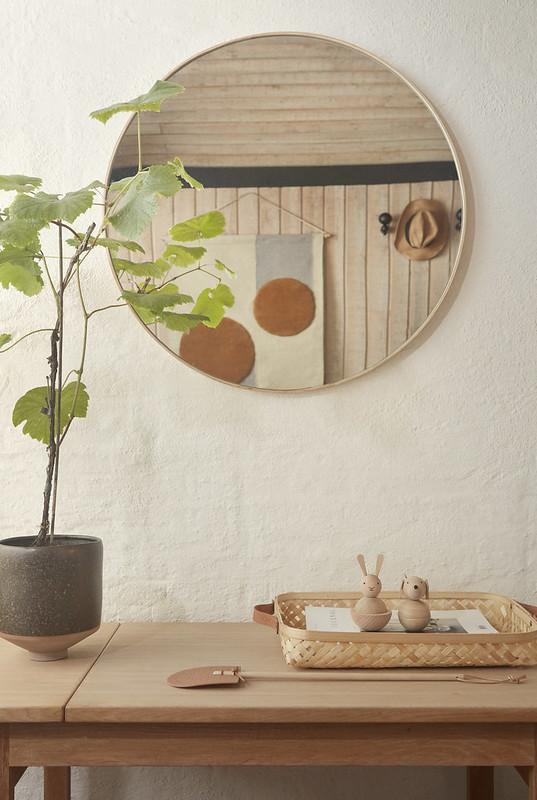 Mun Wall Mirror - Natural