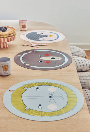 Placemat Lion - Light Grey